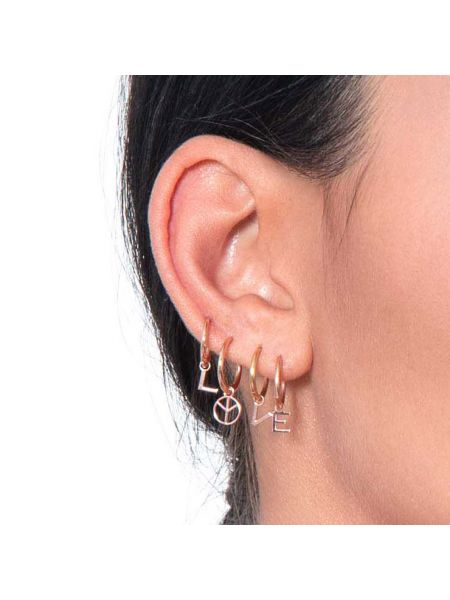 CHARM LUXURY PIERCING CON PACE IN ORO ROSA